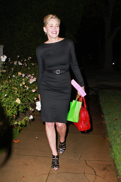 sharon stone black dress