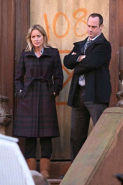 Sharon stone on the set of law order svu in this photo sharon stone