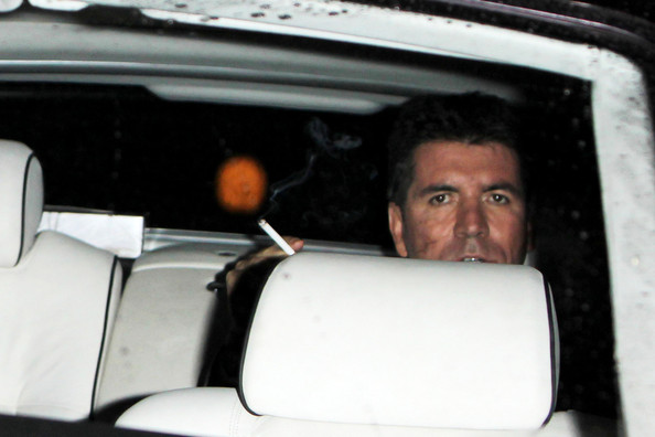 "Simon Cowell Judge Simon Cowell is seen smoking in his car after the ""Britain's Got Talent"" live show."