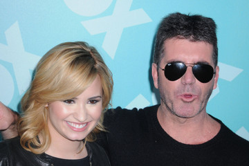 Simon Cowell Demi Lovato Celebs at the FOX Programming Post Party in NYC