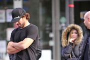 Singer Avril Lavigne and her boyfriend Brody Jenner walk around NYC with friends.  Avril shares laughs with friends as they enjoy the city together.