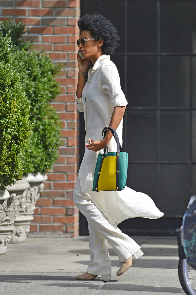 Singer Solange Knowles seen out and about in SoHo, New York City.