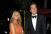 Stand up for Jimmy Fallon! The Emmys host arrives with his wife Nancy Juvonen at his own afterparty at Trousdale in Hollywood.