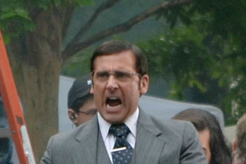 Steve Carell 'Anchorman 2' Films in Atlanta