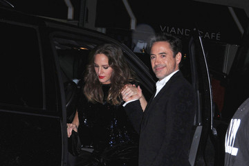 Susan Downey Robert Downey Sting Arrives at His 60th Birthday Party