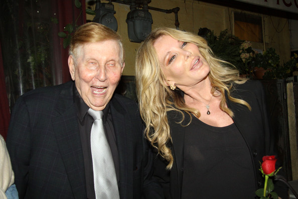 Christine Peters and Sumner Redstone at Il Picollino