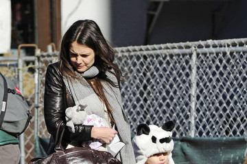 Suri Cruise Katie Holmes and Suri Out and About