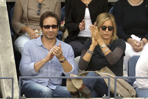David Duchovny and Tea Leoni - Celebs at the US Open