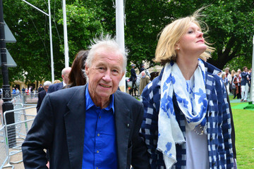 Terence Conran Michael Caine at a Memorial in London