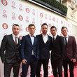 The Overtones Arrivals at the Tesco Mum of the Year Awards at the Savoy Hotel in London