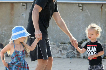 Ruby Sweetheart Maguire Tobey Maguire and Family at Bondi Beach
