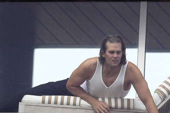 tom brady long hair pictures. Tom Brady and Gisele Bundchen