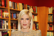 """Tori Spelling signs copies of her new book """"Presenting...Tallulah"""" at the Borders book store on Park Avenue in NYC."""