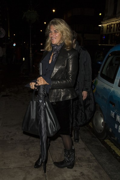 Supermodel Lily Cole leaves the Groucho Club in London's Soho