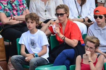 Vahina Giocante Celebs Watch the French Open in Paris