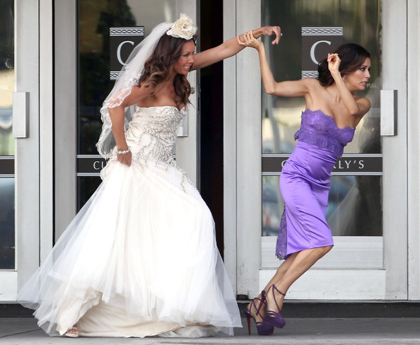 photos of eva longoria wedding dress