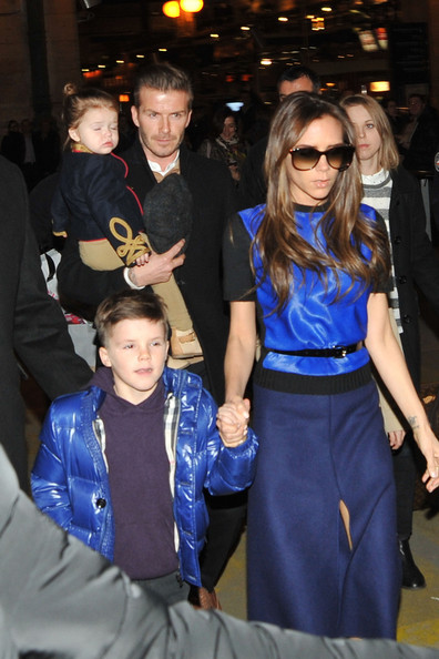 Victoria Beckham - David Beckham and Victoria Beckham at Gare du Nord