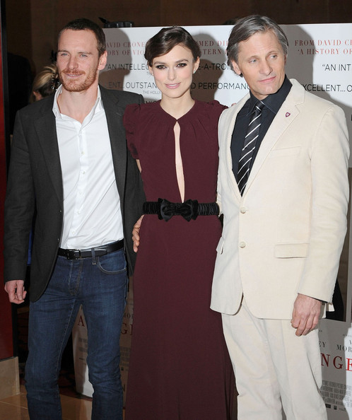"Keira Knightley attending the UK premiere of ""A Dangerous Method"" held in the crystal room at the May Fair Hotel, London"