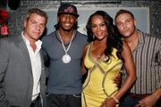 Chef Chris Nirschel, Vivica Fox and fiance Omar Slim White are seen with Tom Murro at a birthday party in Los Angeles.