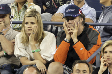 Will Ferrell Viveca Paulin Will Ferrell and Wife at the US Open
