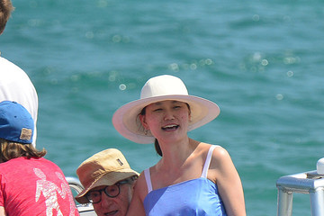 Woody Allen Woody Allen and Wife in St. Tropez