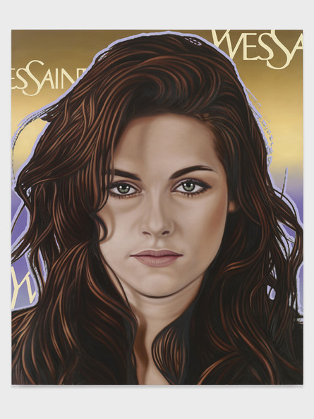 Portraits of Top Ten Celebrities Appear In One Of The World's Most Illustrious Art Galleries. Seen here, artist Richard Phillips' painting of Kristen Stewart as part of his 'Most Wanted' collection. Words by Paul Andrews, PacificCoastNews.