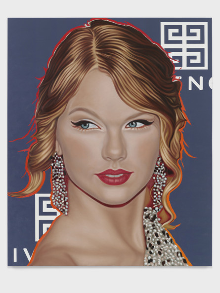 Portraits of Top Ten Celebrities Appear In One Of The World's Most Illustrious Art Galleries. Seen here, artist Richard Phillips' painting of Taylor Swift as part of his 'Most Wanted' collection. Words by Paul Andrews, PacificCoastNews.