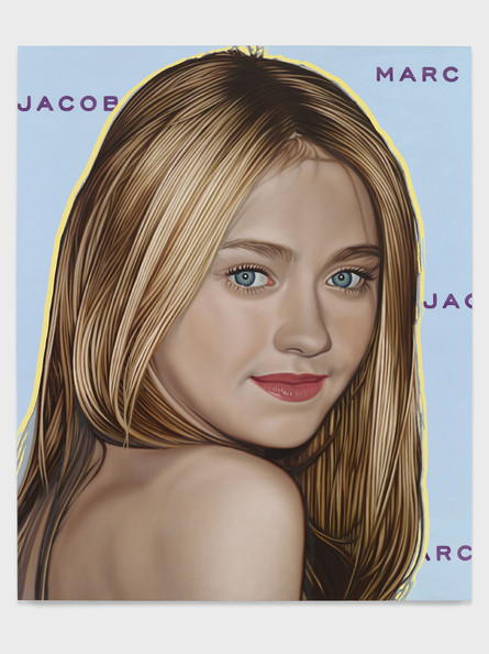 Portraits of Top Ten Celebrities Appear In One Of The World's Most Illustrious Art Galleries. Seen here, artist Richard Phillips' painting of Dakota Fanning as part of his 'Most Wanted' collection. Words by Paul Andrews, PacificCoastNews.