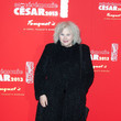 Yolande Moreau Claudia Cardinale at the gala dinner following the 38th Cesar ceremony at Fouquet's restaurant in Paris