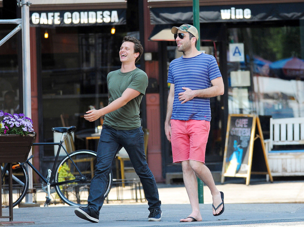 Zachary Quinto And Jonathan Groff Together In Nyc 1 Of 11