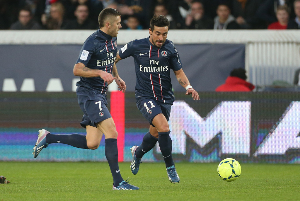 football photos photos zlatan ibrahimovic of psg in action during the ligue 1 match between. Black Bedroom Furniture Sets. Home Design Ideas