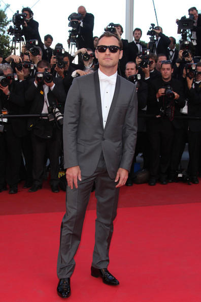 "Jude Law arrives before the screening of ""The Tree of Life"", held during the 64th Annual Cannes Film Festival."