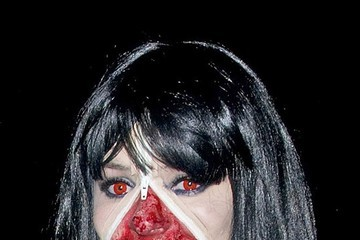 Zombie Holly Willoughby gets dressed up to attend the Jonathan Ross Halloween party in London
