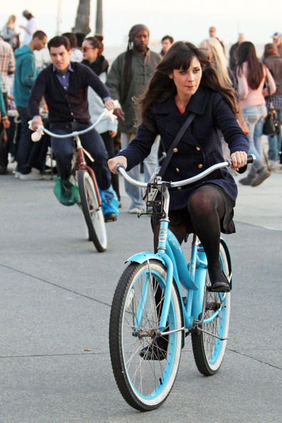 zooey deschanel bicycle