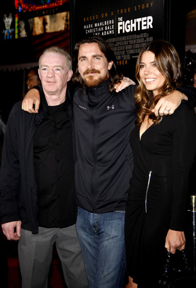 "Christian Bale (center), wife Sibi Blazic and Dicky Eklund on the red carpet at the Los Angeles premiere of ""The Fighter"" held at  Grauman's Chinese Theater, Los Angeles."