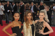 Leigh-Anne Pinnock, Jade Thirlwall and Perrie Edwards of Little Mix arrive at the world film premiere of 'One Direction - This Is Us', held at London's Empire Leicester Square.**UK, IRELAND, DUBAI, USA AND CANADIAN USE ONLY** Photograph: ©  ZTimages.