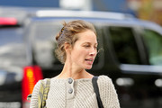 A make-up free Christy Turlington Burns seen out and about in SoHo, New York City.