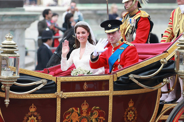 Kate+Middleton in Duke and Duchess of Cambridge Leave Westminster Abbey