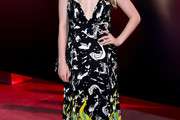Dakota Fanning Print Dress