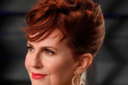 Megan Mullally Messy Updo