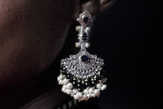 Lupita Nyong'o Pearl Chandelier Earrings