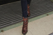 Nadine Coyle Lace Up Boots
