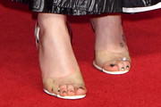 Daisy Ridley Strappy Sandals