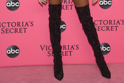 Winnie Harlow Over the Knee Boots