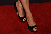 Lucy Liu Peep Toe Pumps