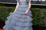 Thomasin McKenzie Strapless Dress