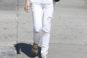 Ellen Pompeo Ripped Jeans