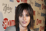 Katherine Moennig Medium Straight Cut with Bangs