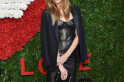 Josephine Skriver Leather Dress