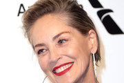 Sharon Stone Short Side Part